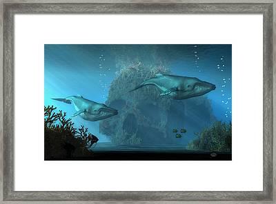 Poseidon's Grave Framed Print by Daniel Eskridge
