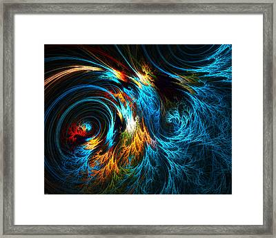 Poseidon's Wrath Framed Print by Lourry Legarde