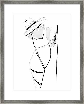 Posing Framed Print by Barbara Andolsek