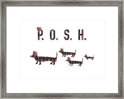 Posh Dachshunds Framed Print