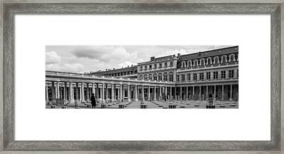 Posing For Photo Shoot At Le Palais Royal Framed Print