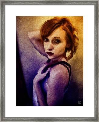 Framed Print featuring the digital art Posing For You by Gun Legler