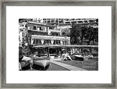 Positano Beach Dining Framed Print