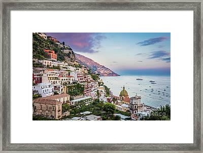 Positano Dawn Framed Print