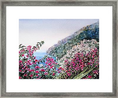 Positano Italy Framed Print