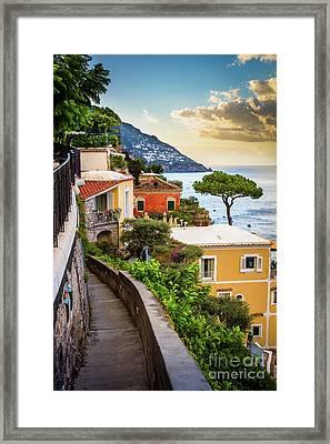 Positano Paradiso Framed Print by Inge Johnsson
