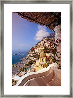 Positano View Framed Print by Neil Buchan-Grant