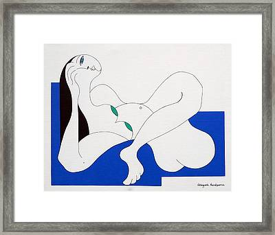 Position Women  Framed Print by Hildegarde Handsaeme