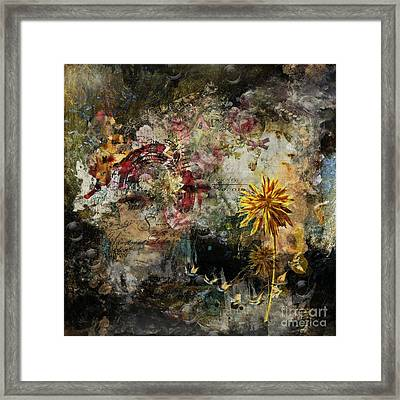Positive Damage ... Growth Framed Print by Monique Hierck