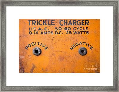 Positive Negative Framed Print by Edward Fielding