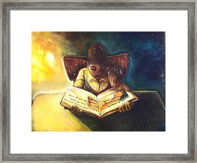 Framed Print featuring the painting Positive Thinking by Emery Franklin