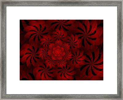 Positively Red Framed Print