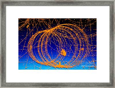 Positron Track Framed Print by Photo Researchers