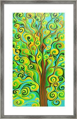 Positronic Spirit Tree Framed Print