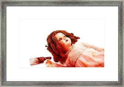 Possessed Evil Doll Framed Print