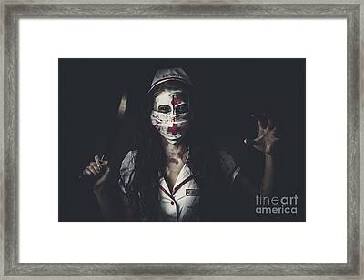 Possessed Health Practitioner With Surgeon Saw Framed Print by Jorgo Photography - Wall Art Gallery