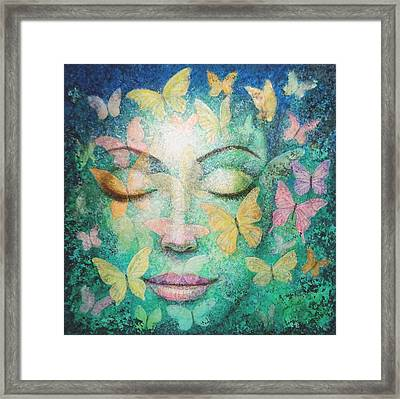 Framed Print featuring the painting Possibilities Meditation by Sue Halstenberg