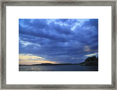 Possum Kingdom Blue Framed Print