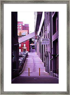 Post Alley, Seattle Framed Print