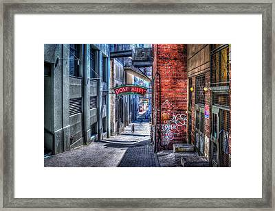 Framed Print featuring the photograph Post Alley Straggler by Spencer McDonald