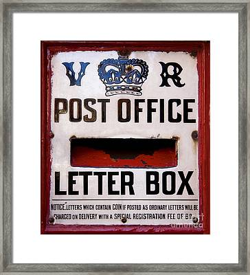 Post Box Framed Print