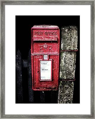 Post Box Framed Print by Martin Newman