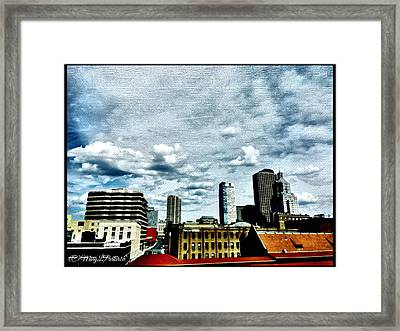 Post Card View Framed Print by MaryLee Parker