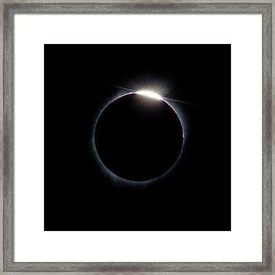 Post Diamond Ring Effect Framed Print