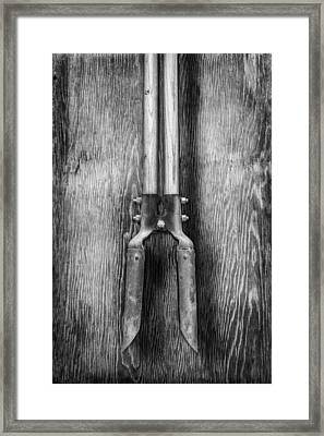 Post Hole Digger Framed Print by YoPedro