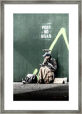 Post No Bills Framed Print by Marvin Spates