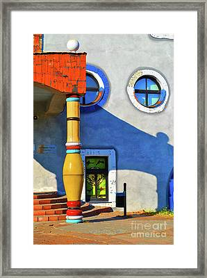 Post Of Hundertwasser Framed Print