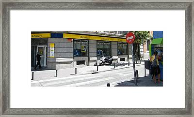 Post Office And Public Telephone On Mejia Lequerica Street - Madrid Framed Print by Thomas Bussmann