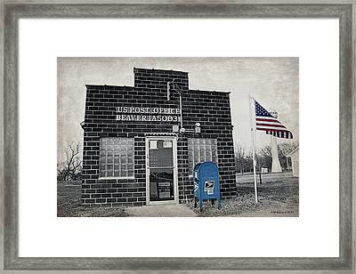 Post Office Beaver Iowa Framed Print by Kathy M Krause