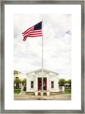 Post Office By The Sea Framed Print by Mel Steinhauer