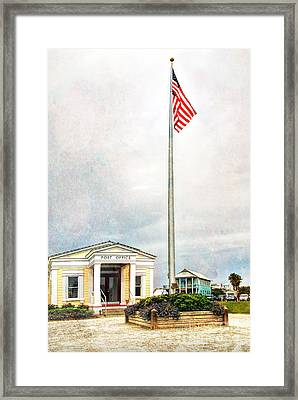 Post Office In Seaside Florida Framed Print