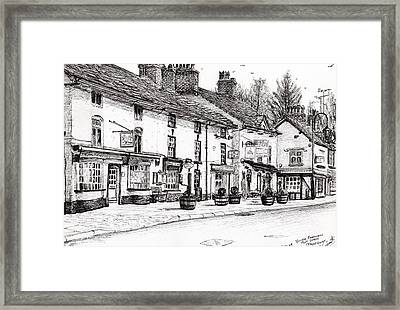 Post Office  Prestbury Framed Print by Vincent Alexander Booth