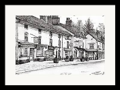 Country Store Drawings Framed Prints