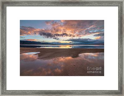 Framed Print featuring the photograph Post Storm Sunset by Spencer Baugh