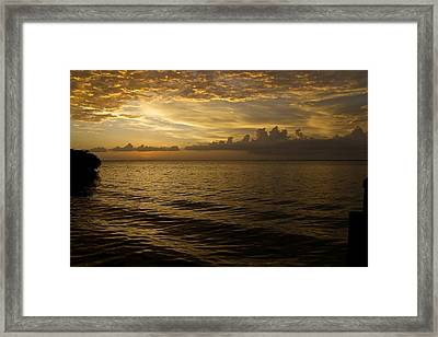 Post Sunset Bliss Framed Print by Christin Walton