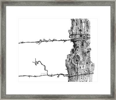 Post With Character Framed Print