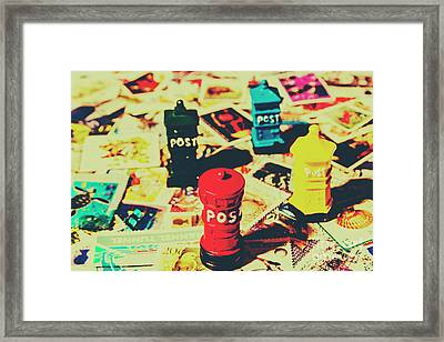 Framed Print featuring the photograph Postage Pop Art by Jorgo Photography - Wall Art Gallery
