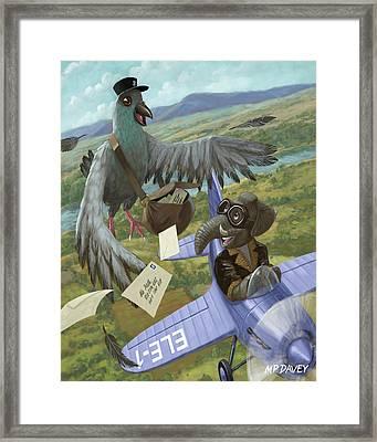 Postal Bird Framed Print by Martin Davey