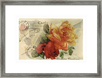 Framed Print featuring the digital art Postal by Kim Kent