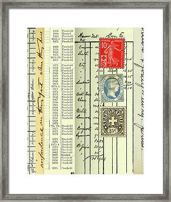 Postal Framed Print by Nancy Merkle