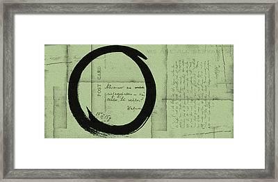 Postcard For Peace Framed Print by Julie Niemela