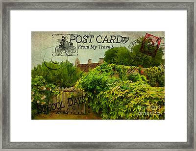 Postcard From My Travels. Framed Print by ShabbyChic fine art Photography