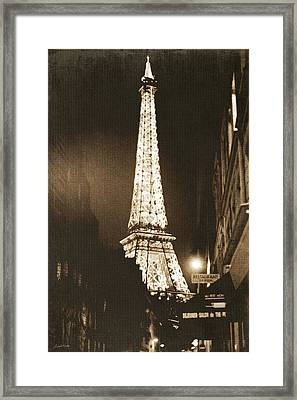 Postcard From Paris- Art By Linda Woods Framed Print