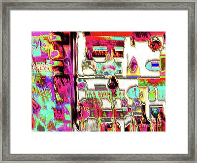 Postcard From The B.stool Framed Print