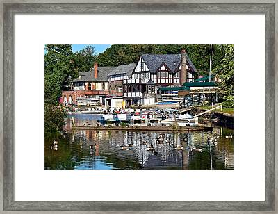 Postcard Perfect Boathouse Row Framed Print by Frozen in Time Fine Art Photography