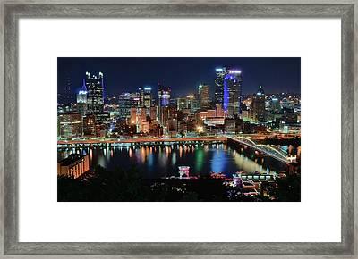 Postcard Pittsburgh Framed Print